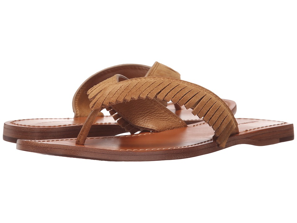 Frye Perry Feathered Thong (Sand Oiled Suede) Women