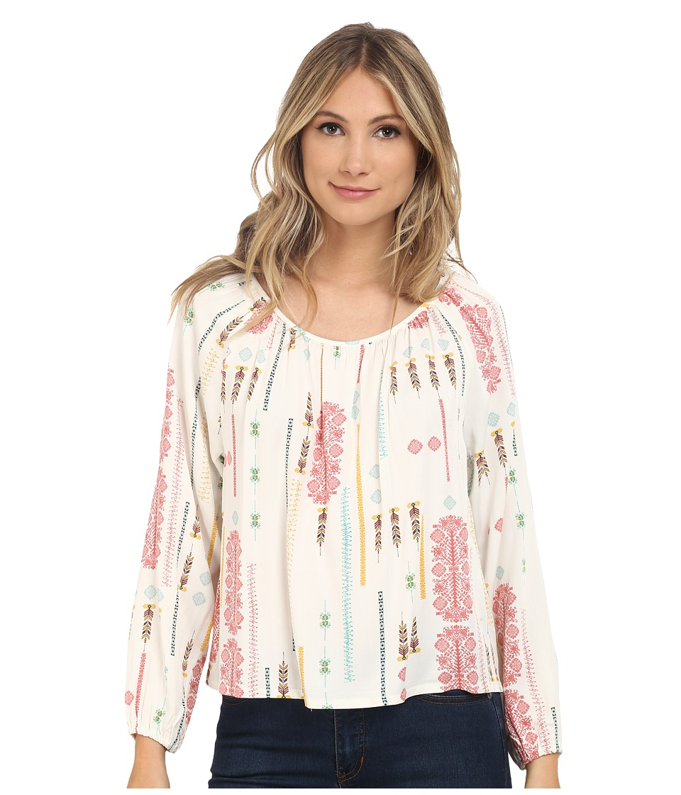 Jack by BB Dakota - Clifford Tribal Detail Printed Heavy Rayon Challi Peasant Top (Multi) Women's Blouse