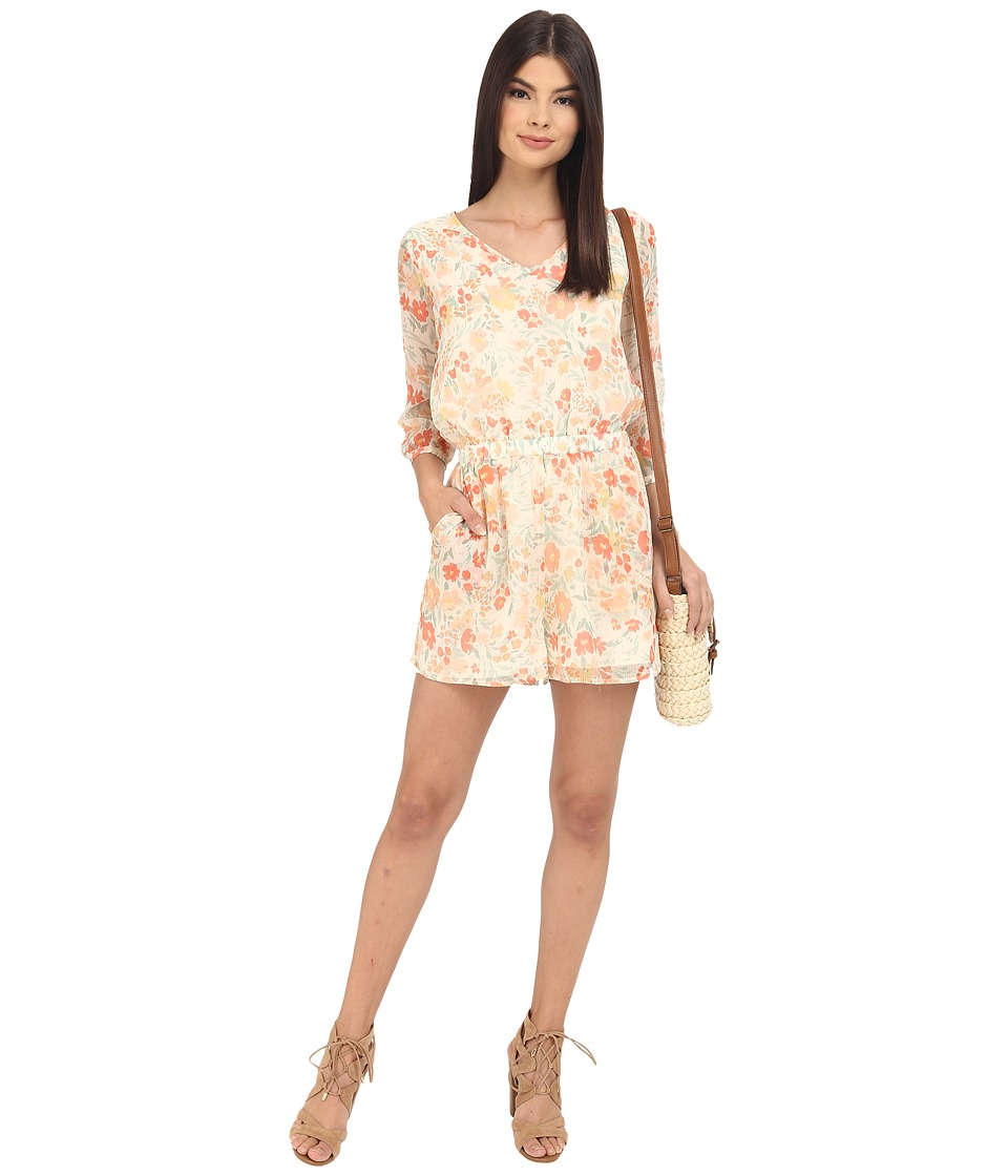 Jack by BB Dakota - Tacoma Spring Meadows Printed Crinkle Chiffon Romper (Multi) Women's Jumpsuit & Rompers One Piece