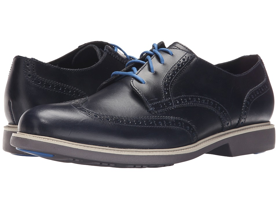 Cole Haan - Great Jones Wingtip (Blazer Blue) Men's Lace up casual Shoes