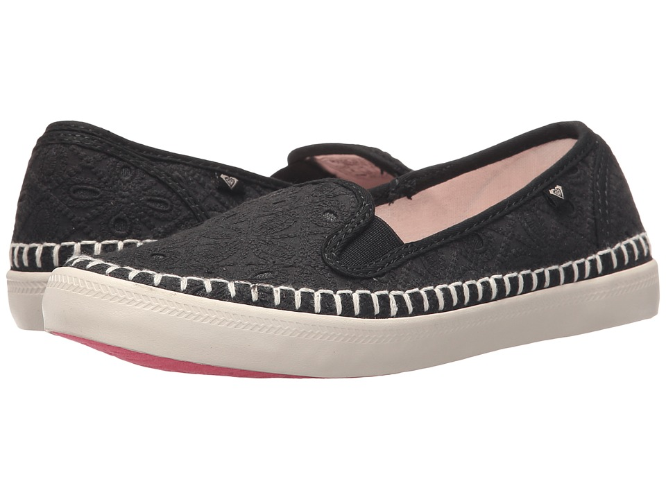 Roxy - Malibu Espadrille (Black 2) Women's Slip on Shoes