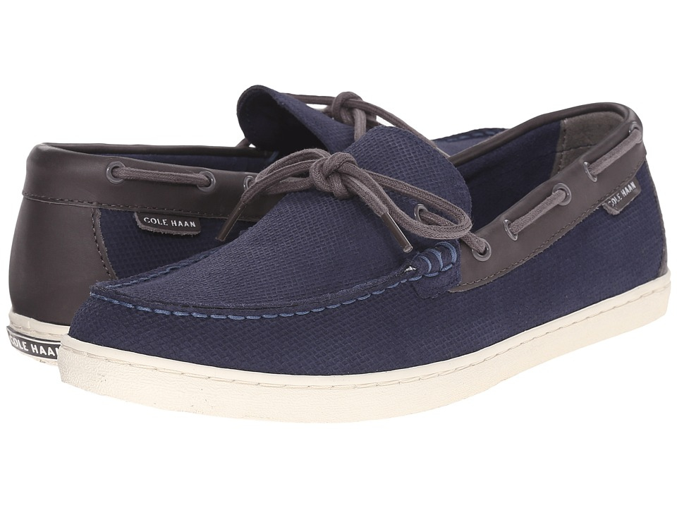 Cole Haan - Pinch Weekender Camp Moc (Blazer Blue/Black Iris) Men's Slip on Shoes