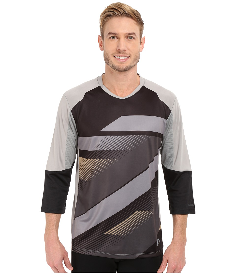 Pearl Izumi - Launch 3/4 Sleeve Jersey (Black/Monument Grey) Men's Clothing