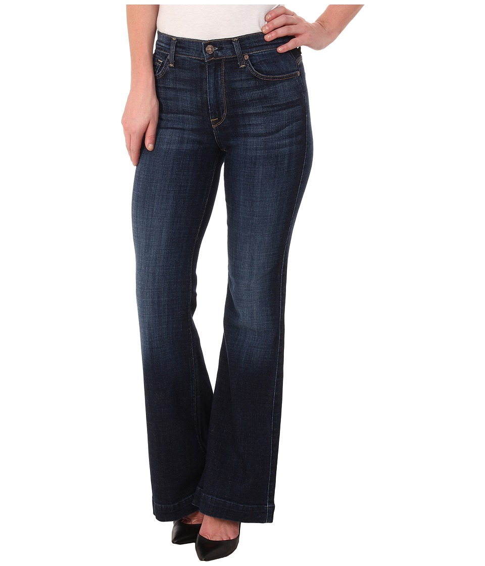 7 For All Mankind - Tailorless Ginger in Royal Twill (Short Inseam) (Royal Twill) Women's Jeans
