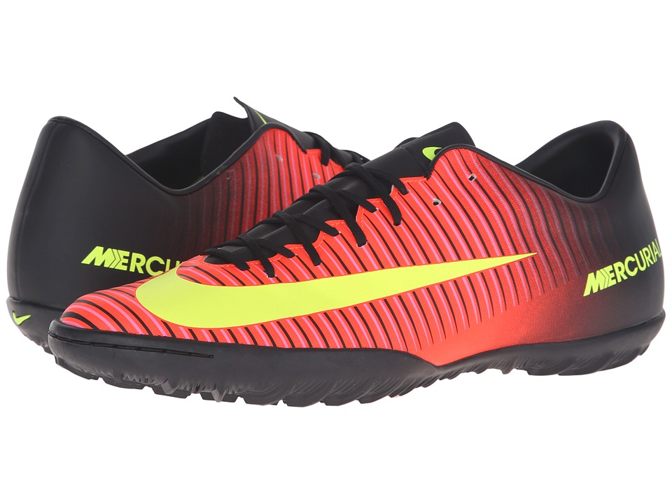 Nike - Mercurial Victory VI TF (Total Crimson/Black/Print Blast/Volt) Men's Soccer Shoes