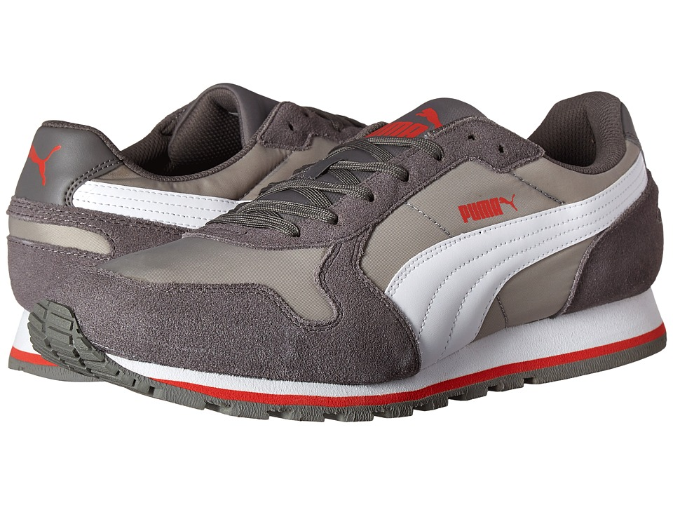 PUMA - ST Runner NL (Limestone Grey/White) Men's Running Shoes