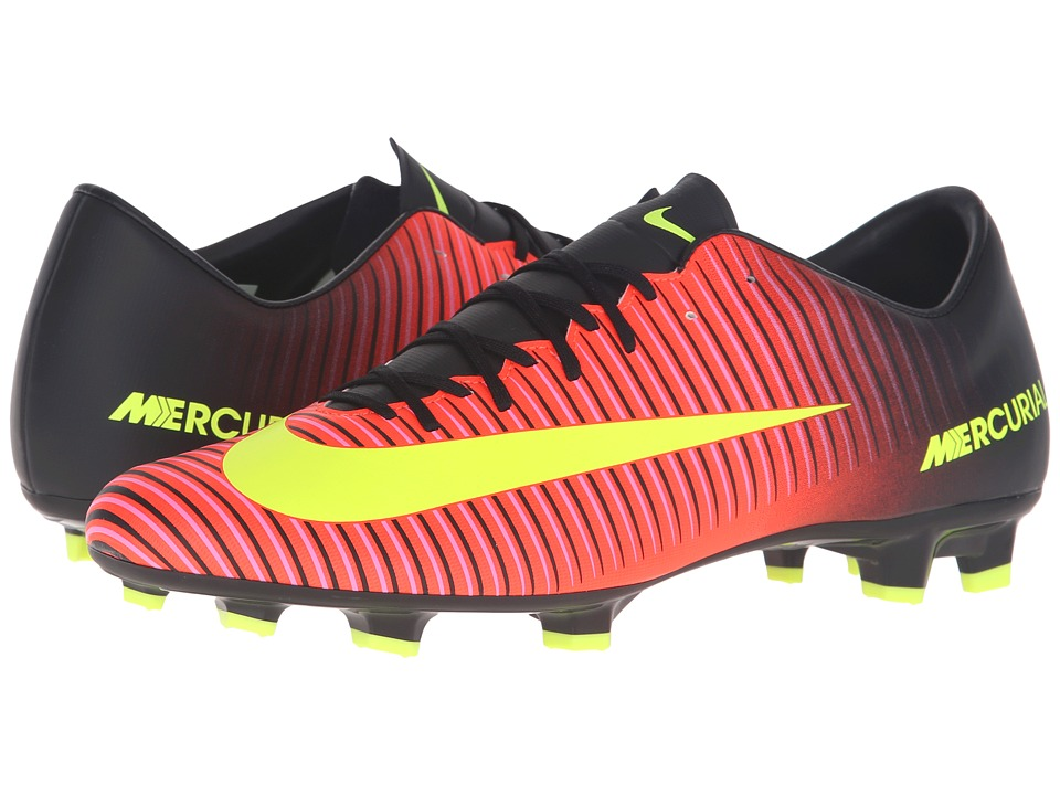 Nike - Mercurial Victory VI FG (Total Crimson/Black/Pink Blast/Volt) Men's Soccer Shoes