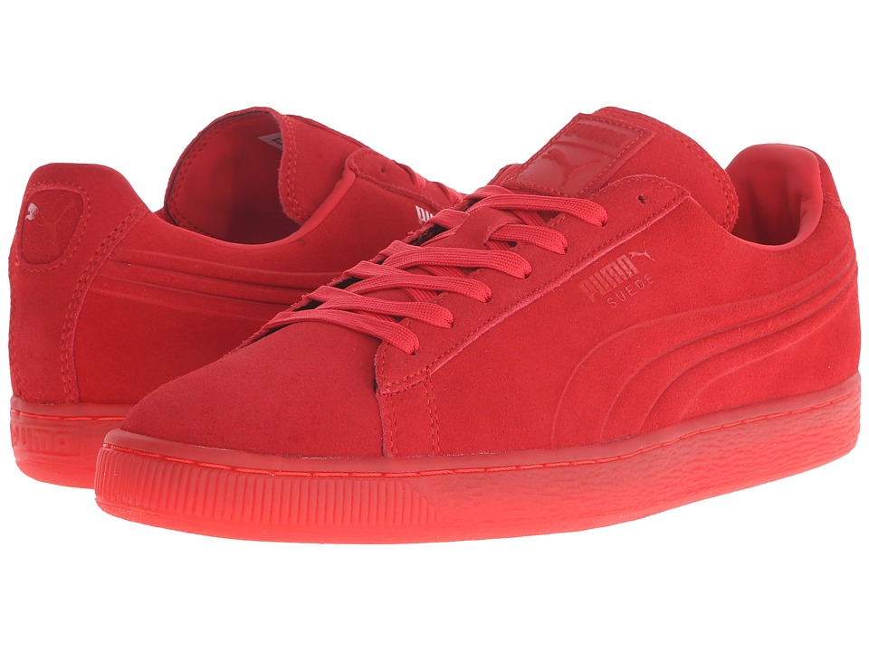 PUMA - The Suede Emboss Iced (High Risk Red) Men's Shoes