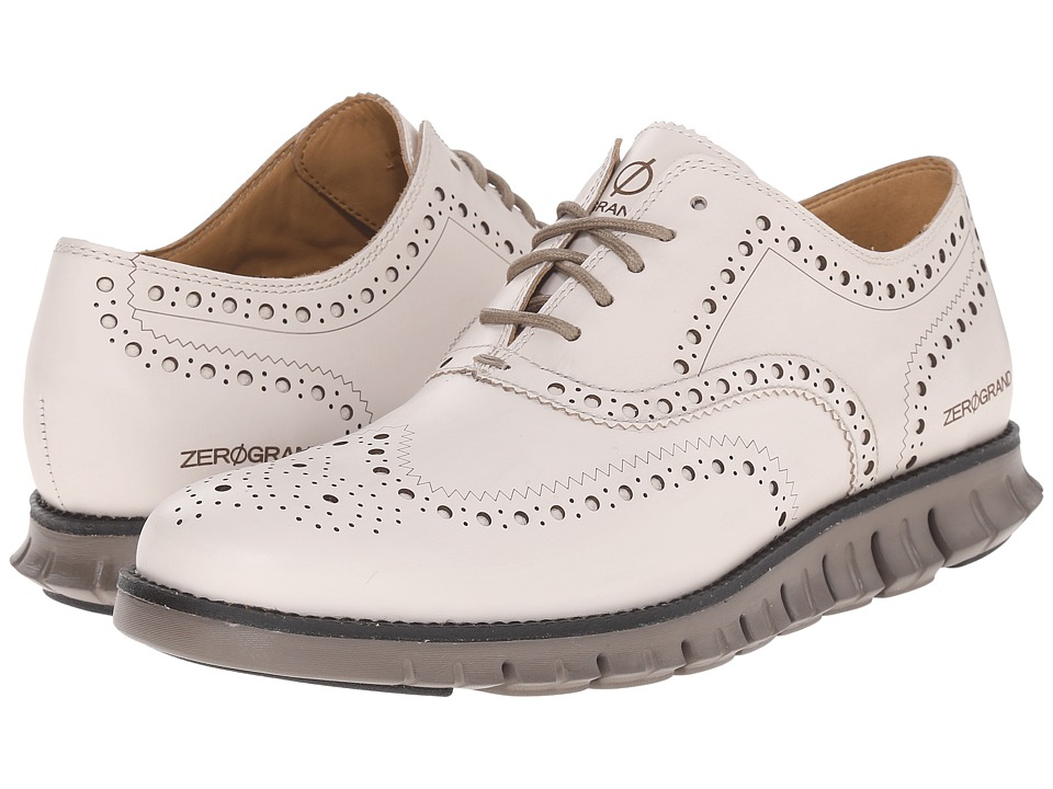 Cole Haan - Zerogrand Wing Ox (Moonbeam/Black) Men's Lace Up Wing Tip Shoes