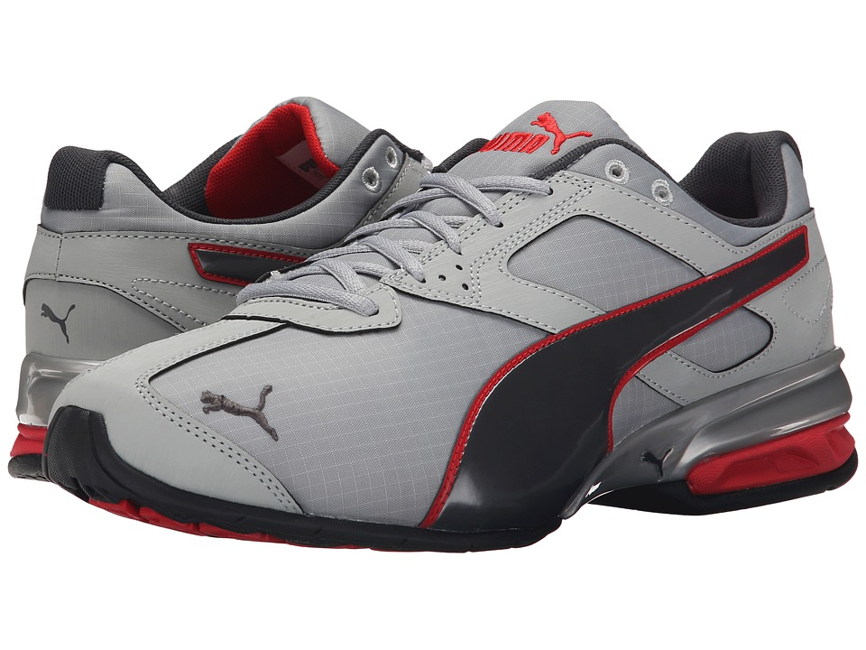 PUMA - Tazon 6 Ripstop (Quarry/Asphalt/High Risk Red) Men's Shoes
