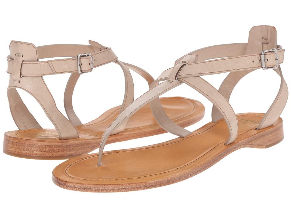 Frye Rachel T Sandal Cement Smooth Full Grain Womens Sandals