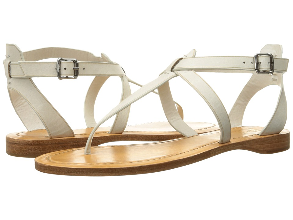 Frye Rachel T Sandal (White Smooth Full Grain) Women