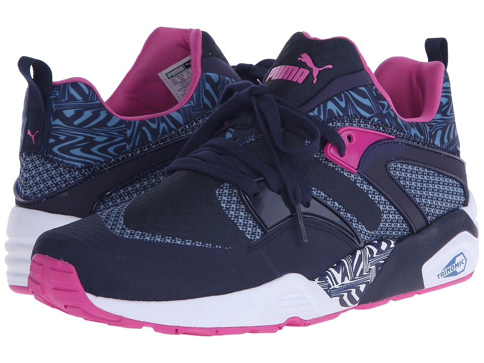 PUMA - Blaze of Glory Woven (Peacoat/Blue Heaven/Pink Glo) Men's Shoes