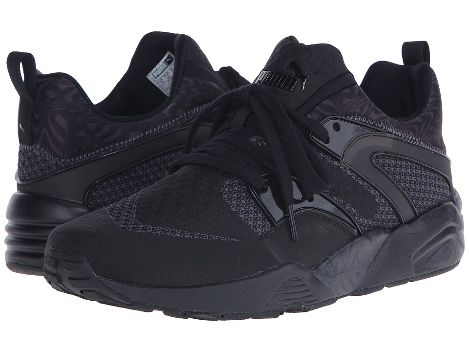 PUMA - Blaze of Glory Woven (Black/Dark Shadow) Men's Shoes