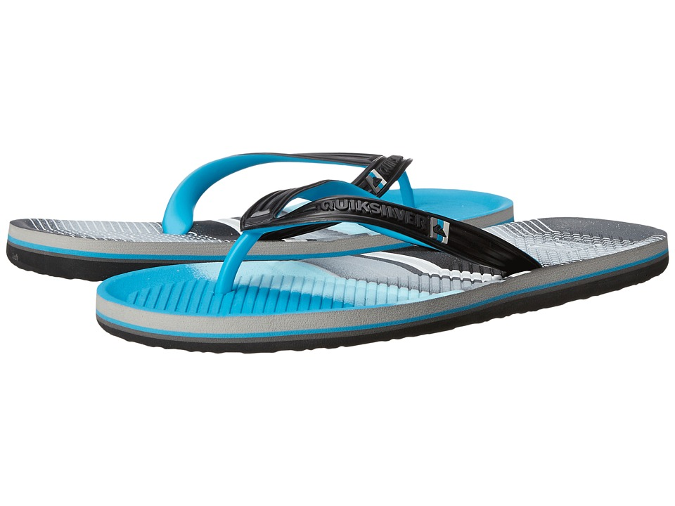 Quiksilver - Haleiwa Print (Black/Blue/Grey) Men's Sandals