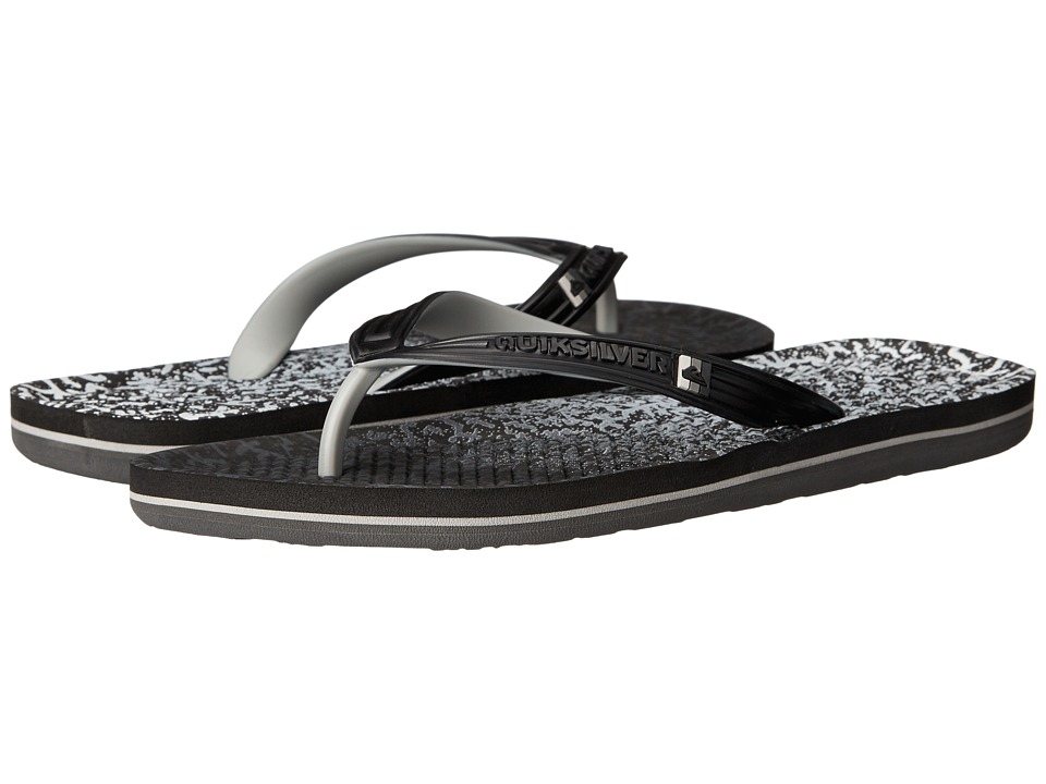 Quiksilver - Haleiwa Print (Black/Grey/Black) Men's Sandals