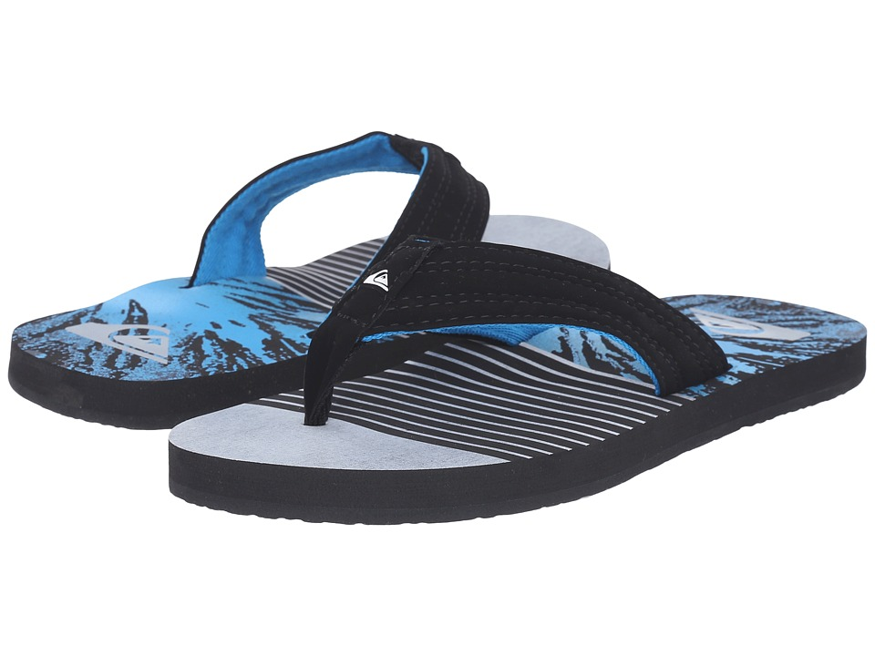 Quiksilver - Basis (Black/Grey/Blue) Men's Sandals
