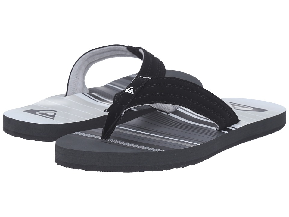 Quiksilver - Basis (Black/Grey/White) Men's Sandals