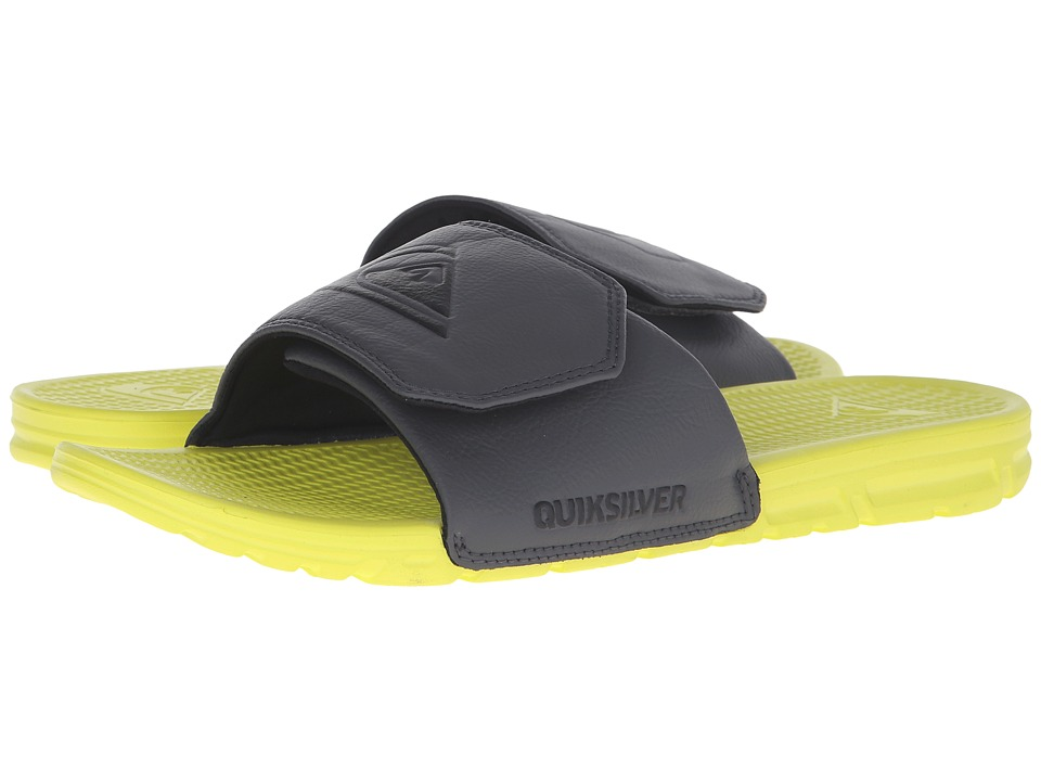 Quiksilver - Shoreline Adjust (Grey/Green/Grey) Men's Slide Shoes