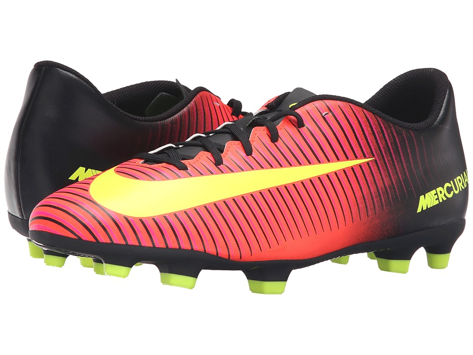 Nike - Mercurial Vortex III FG (Total Crimson/Black/Pink Blast/Volt) Men's Soccer Shoes
