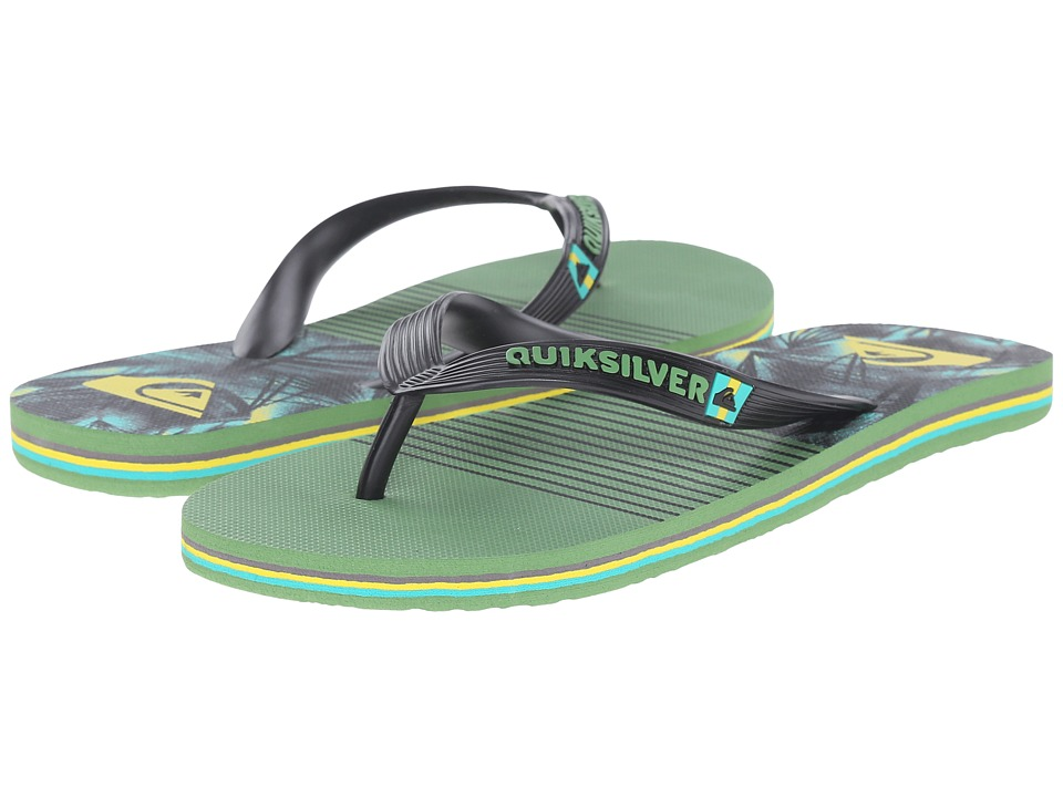 Quiksilver - Molokai Remix (Black/Green/Yellow) Men's Sandals