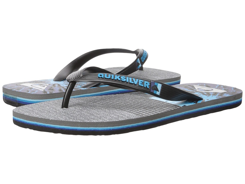 Quiksilver - Molokai Remix (Black/Blue/Grey) Men's Sandals