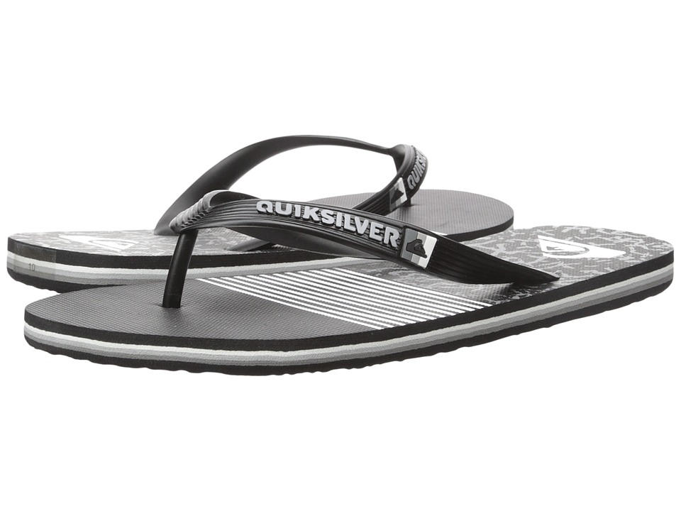 Quiksilver - Molokai Remix (Black/Black/White) Men's Sandals