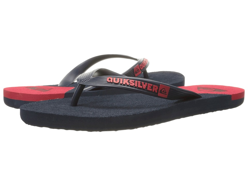 Quiksilver - Molokai New Wave (Blue/Red/Blue) Men's Sandals