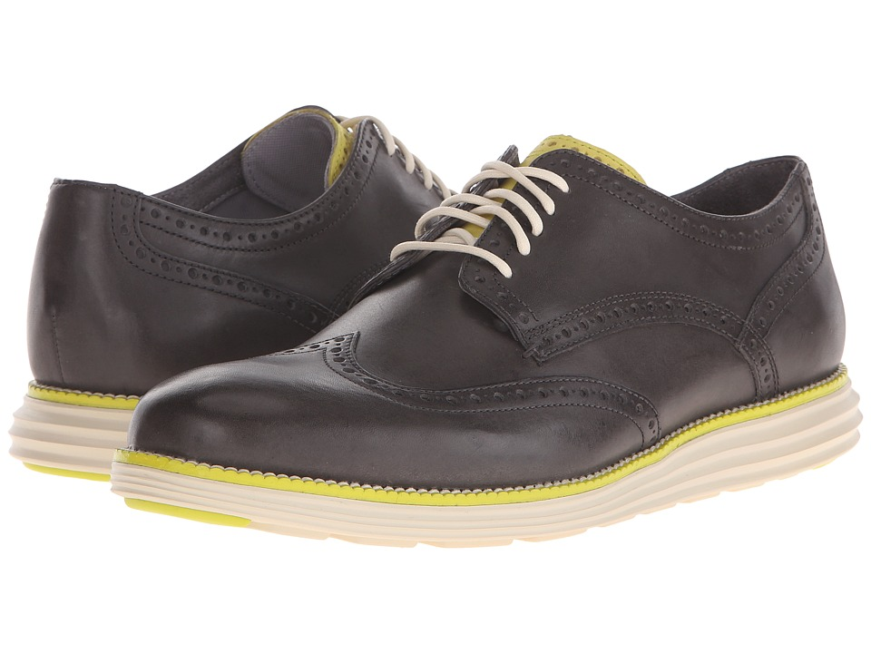 Cole Haan - Original Grand Wingtip (Magnet) Men's Lace Up Wing Tip Shoes
