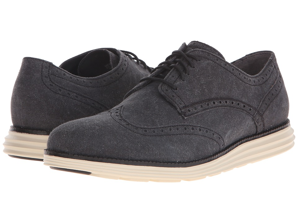Cole Haan - Original Grand Wingtip (Black/White) Men's Lace Up Wing Tip Shoes