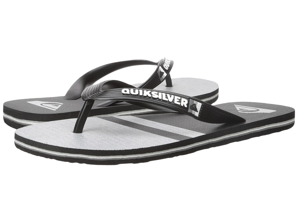 Quiksilver - Molokai Stomp (Black/Black/Grey) Men's Sandals