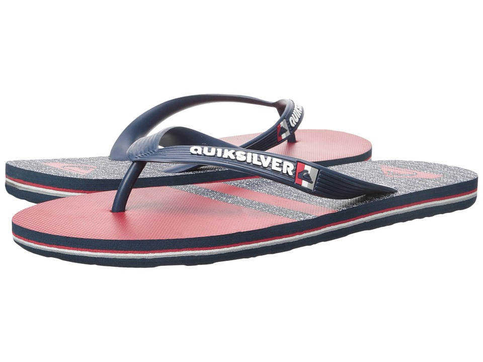 Quiksilver - Molokai Stomp (Blue/Red/Blue) Men's Sandals