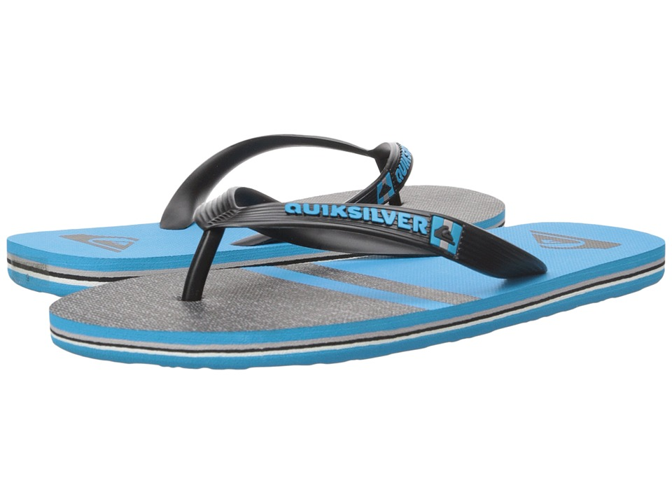 Quiksilver - Molokai Stomp (Black/Blue/Black) Men's Sandals