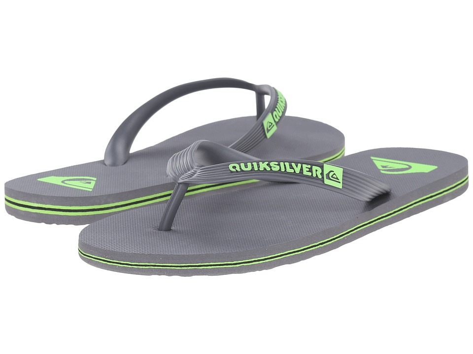Quiksilver - Molokai (Grey/Green/Grey) Men's Sandals