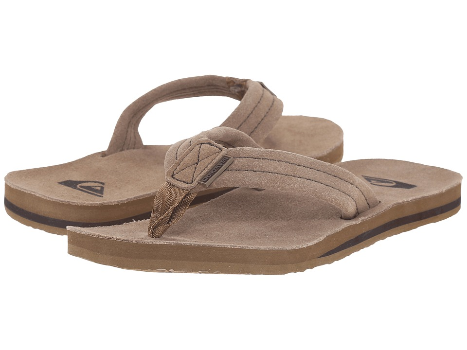 Quiksilver - Carver Suede Deluxe (Tan Solid) Men's Sandals