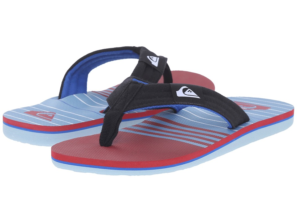 Quiksilver - Molokai Layback (Blue/Red/White) Men's Sandals
