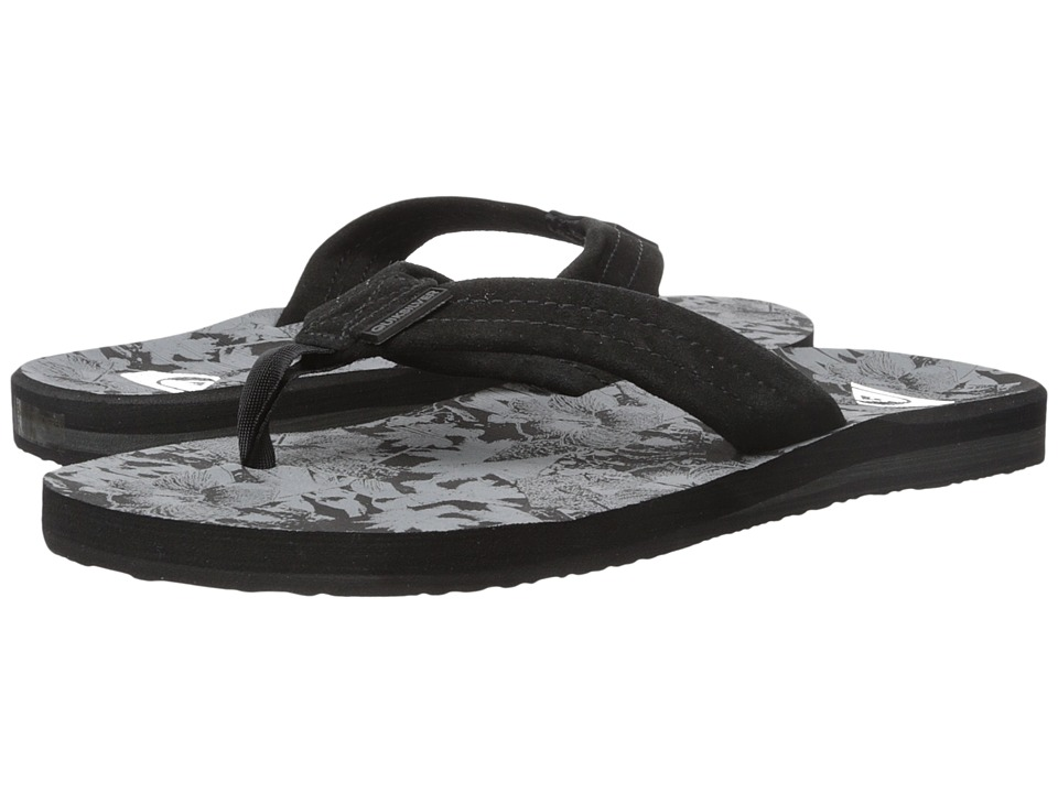 Quiksilver - Carver Suede Art (Black/Grey/Grey) Men