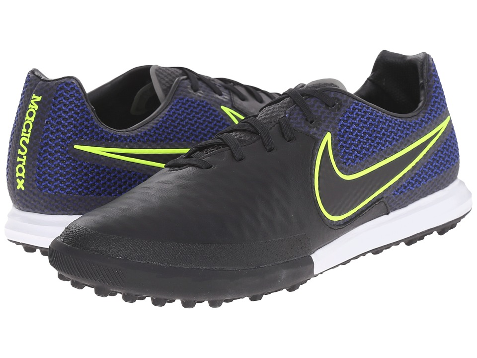 Nike - Magistax Finale TF (Black/Volt/Midnight Navy/Black) Men's Soccer Shoes