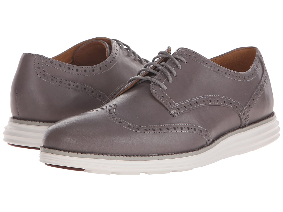 Cole Haan - Original Grand Wingtip (Cloudburst/Optic White) Men's Lace Up Wing Tip Shoes