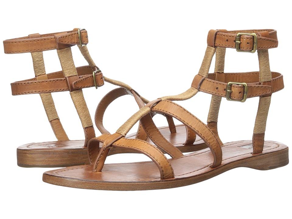 Frye Rachel Gladiator Cognac Smooth Full Grain Womens Sandals