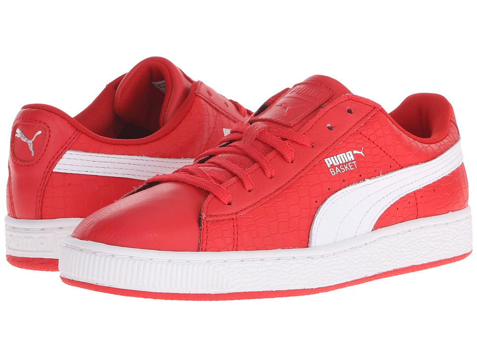 PUMA - Basket Roses (High Risk Red/White/Puma Silver) Women's Shoes