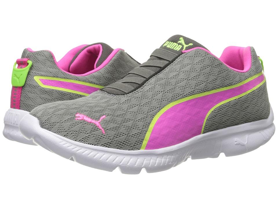 PUMA - FashIN Alt Mesh (Steel Gray/Fluro Pink/Green Gecko) Women's Shoes