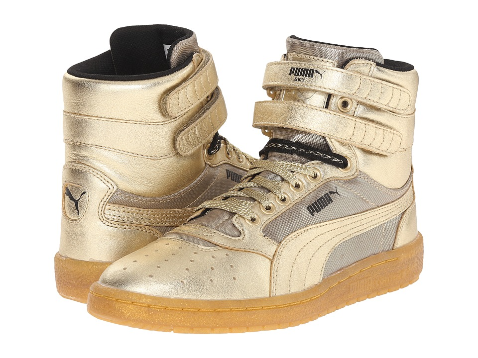 PUMA - Sky II Hi Metallic (Metallic Gold) Women's Shoes