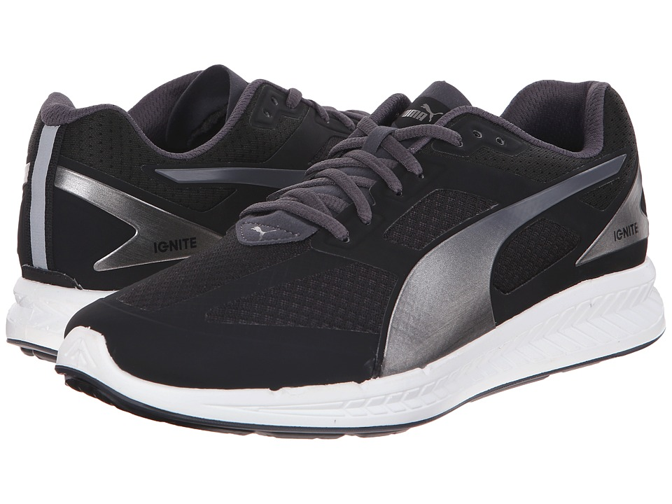 PUMA - Ignite Mesh (Black/Periscope) Men's Shoes