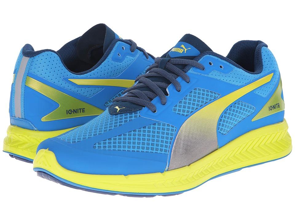 PUMA - Ignite Mesh (Cloisonne/Poseidon) Men's Shoes