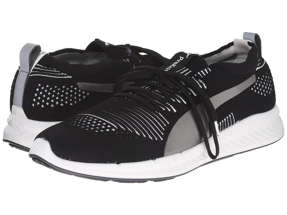 PUMA - Ignite ProKnit (Black/White) Men's Running Shoes