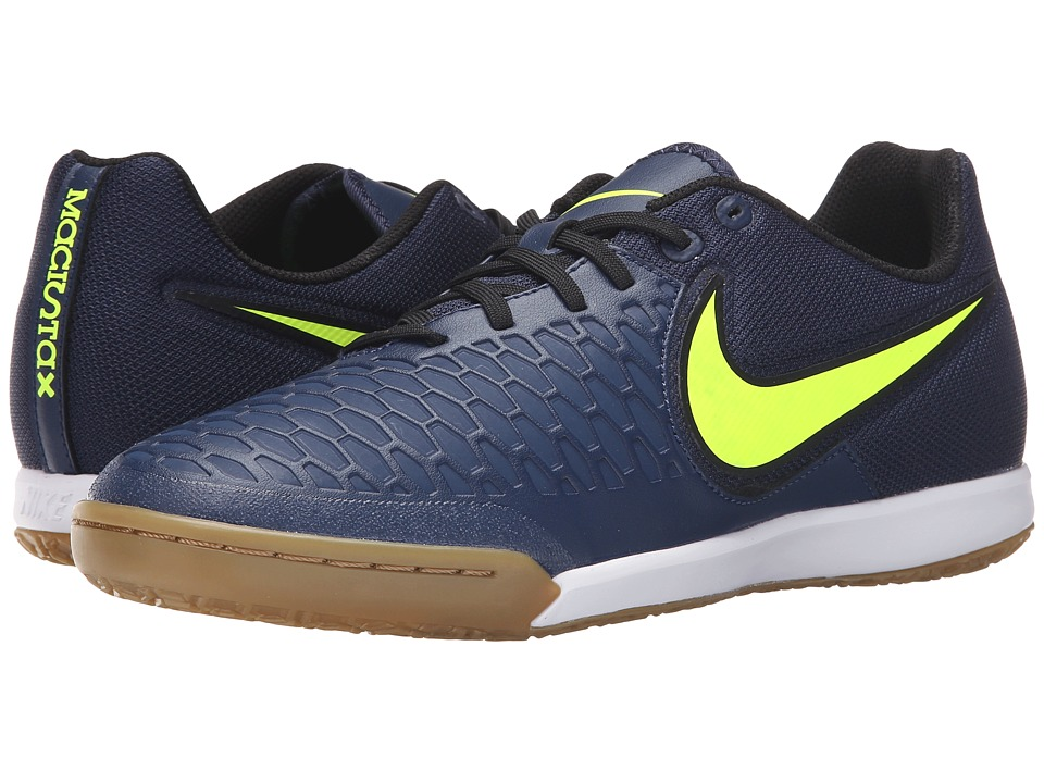 Nike - Magistax Pro IC (Midnight Navy/Gum Light Brown/White/Volt) Men's Soccer Shoes