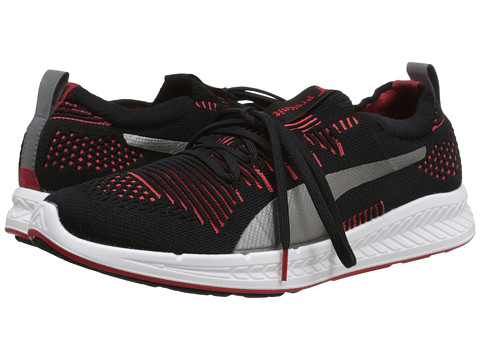 PUMA - Ignite ProKnit (Black/Cayenne/Aged Silver) Women's Running Shoes