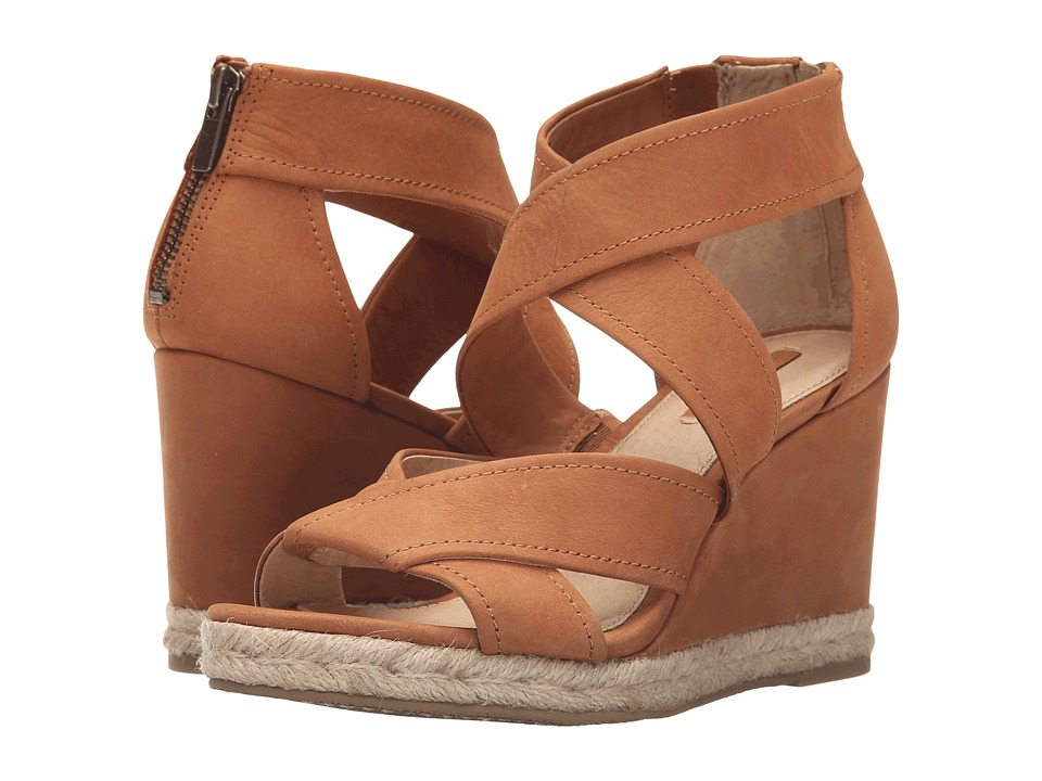 Frye - Roberta Strap Wedge (Nutmeg Soft Nubuck) Women's Wedge Shoes
