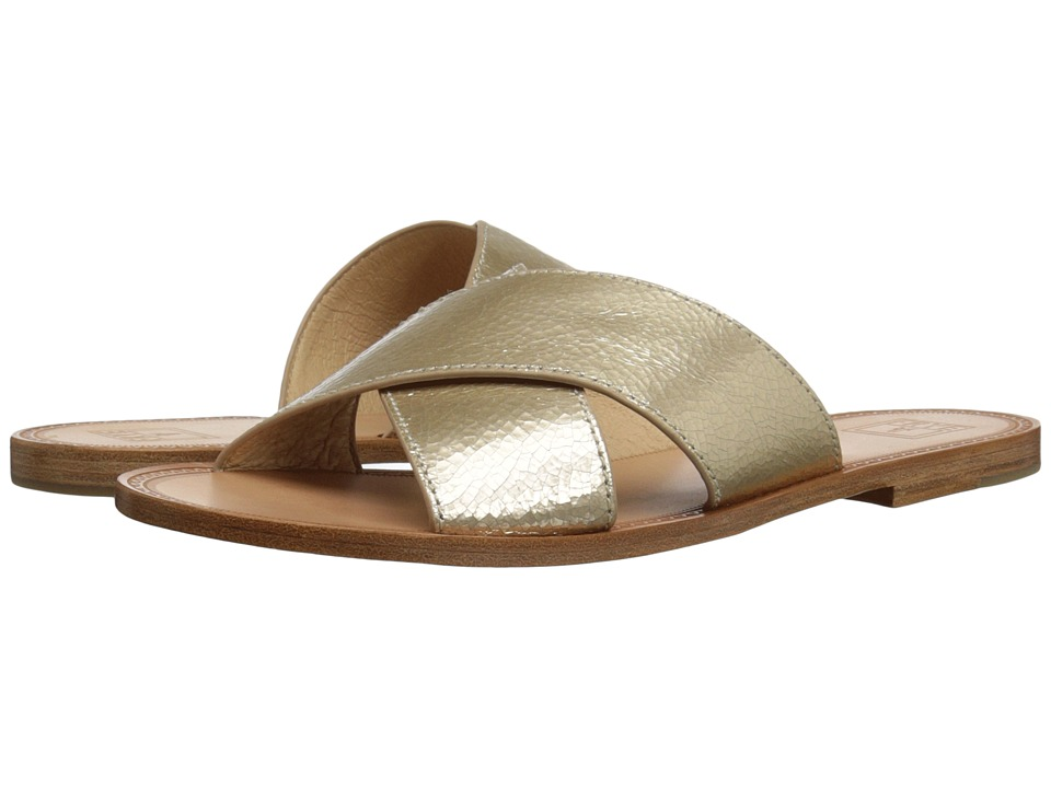 Frye - Ruth Criss Cross (Gold Metallic Leather) Women's Sandals